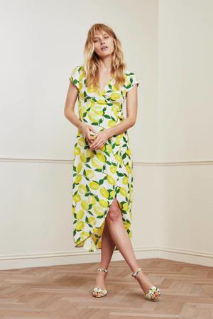 maxi jurk Archana Tess met all over print geel