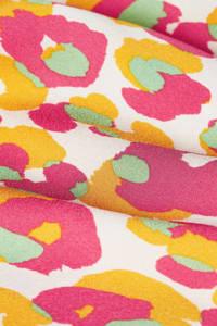 Fabienne Chapot rok Bobo Frill Cato met all over print en ruches roze/ geel, Roze/ geel