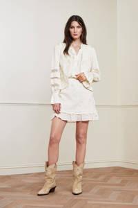 Fabienne Chapot rok Flower met borduursels gebroken wit, Gebroken wit