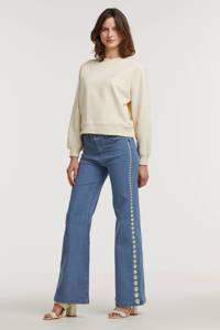 Fabienne Chapot loose fit jeans Eva met borduursels light blue, Light Blue