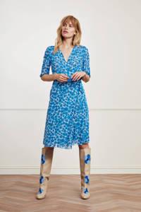 Fabienne Chapot gebloemde wikkeljurk Melissa van gerecycled polyester blauw, Blauw