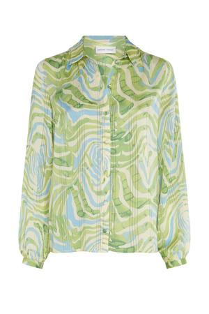 blouse Frida van gerecycled polyester lichtgroen