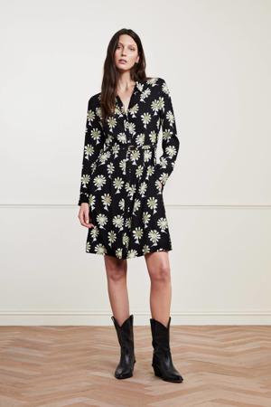 gebloemde blousejurk Hayley zwart