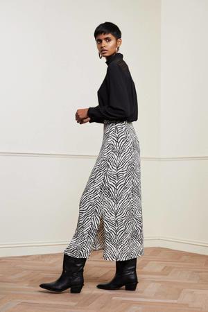 rok Laurie met all over print wit/zwart