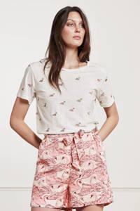 Fabienne Chapot T-shirt Phil Swan van biologisch katoen gebroken wit, Gebroken wit