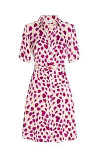 Fabienne Chapot blousejurk Mila met all over print en ceintuur gebroken wit/ roze, Gebroken wit/ roze