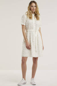 Fabienne Chapot jurk Girlfriend met borduursels gebroken wit, Gebroken wit