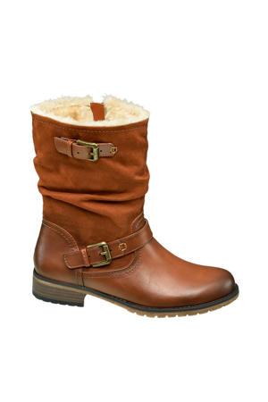 laarzen met siergespen bruin