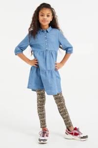 WE Fashion legging - set van 2 panter/uni bruin/zwart, Bruin/zwart