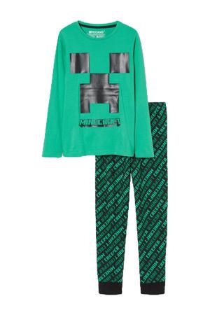 pyjama Minecraft groen/zwart