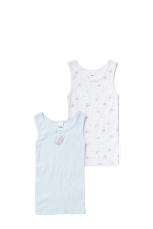 hemd - set van 2 lichtblauw/wit