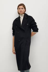 Mango  coat winter met wol zwart, Zwart