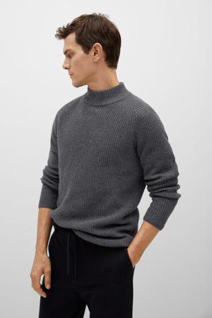 trui met wol grijs