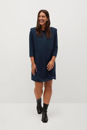 jurk marine met schoudervulling