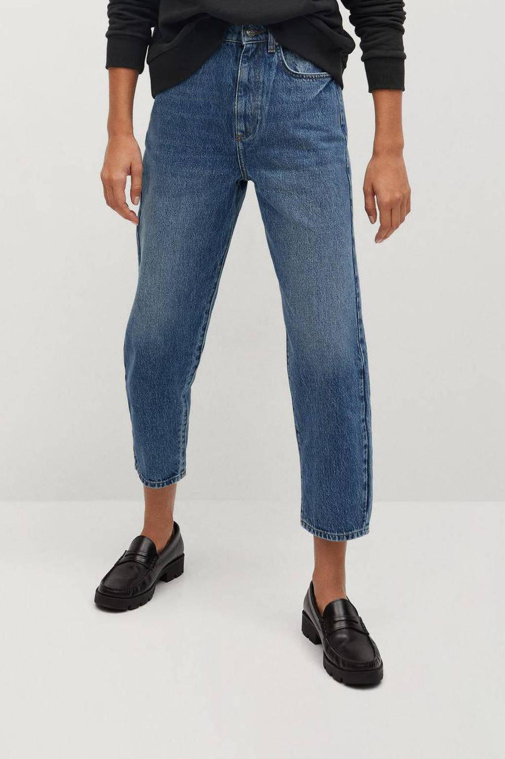 Mango high waist straight fit jeans stonewashed, Stonewashed