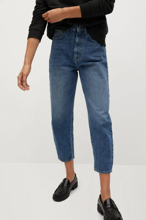 high waist straight fit jeans stonewashed
