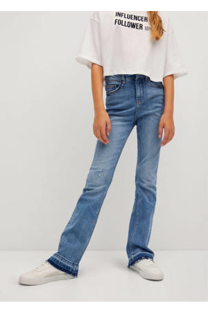 flared jeans changeant blauw