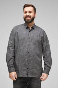 s.Oliver geruit regular fit overhemd grijs, Grijs