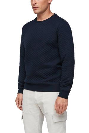 sweater met textuur marine