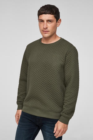 sweater met textuur donkergroen