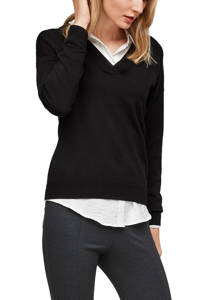 s.Oliver fijngebreide trui zwart, Zwart