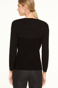 comma trui met glitters zwart, Zwart