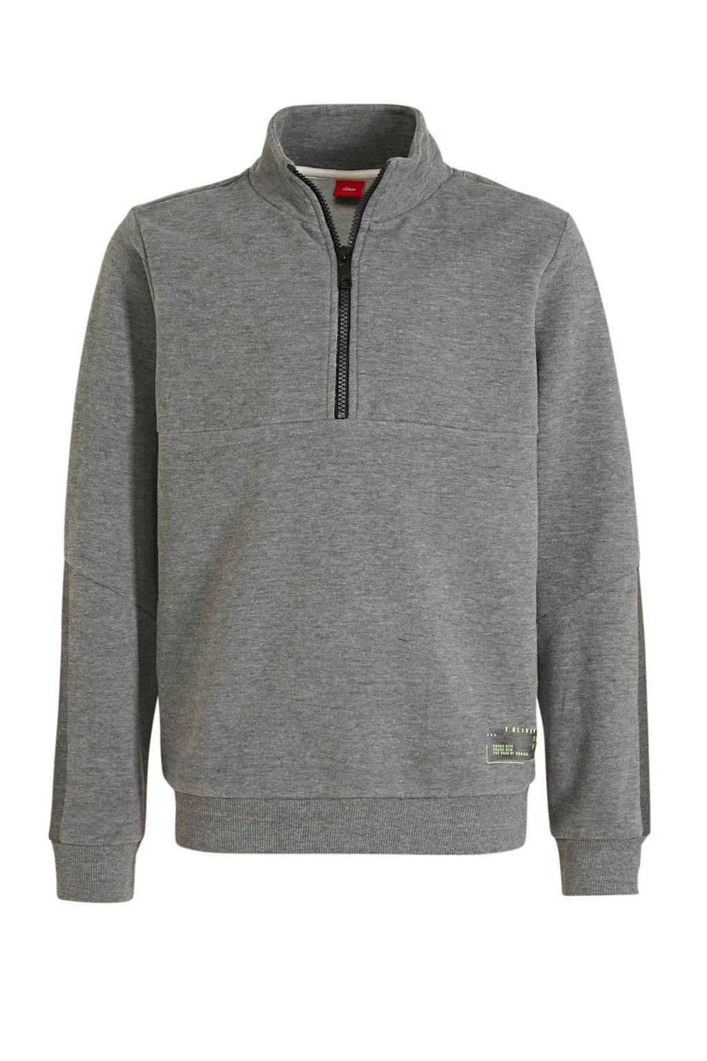 s.Oliver gemêleerde sweater antraciet, Antraciet