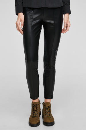 coated jegging zwart