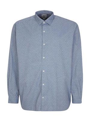 regular fit overhemd met stippen blauw