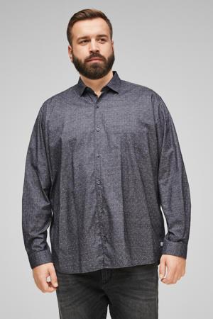 regular fit overhemd met stippen antraciet