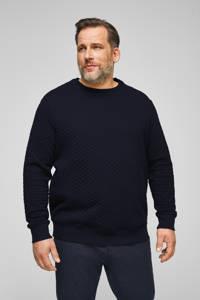 s.Oliver sweater met textuur marine, Marine