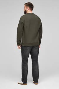 s.Oliver sweater met textuur donkergroen, Donkergroen