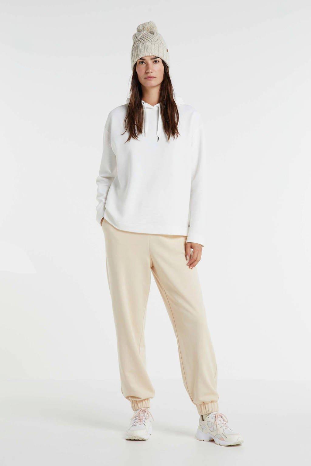 s.Oliver hoodie met textuur wit, Wit