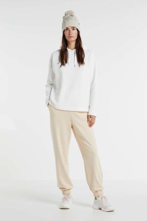 hoodie met textuur wit