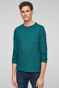 Q/S designed by slim fit longsleeve groen, Groen