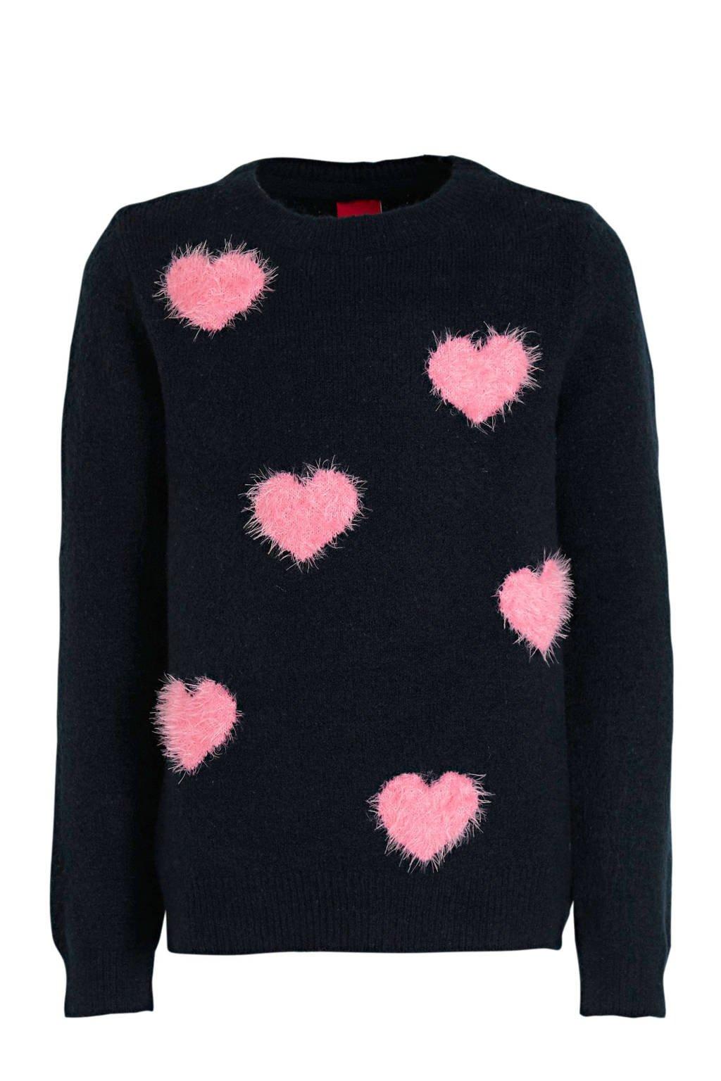 s.Oliver trui donkerblauw/roze, Donkerblauw/roze
