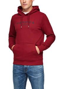 s.Oliver hoodie met printopdruk donkerrood, Donkerrood