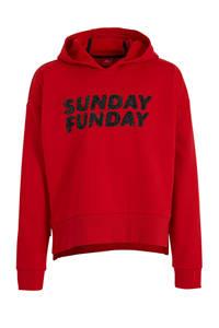 s.Oliver hoodie met tekst rood, Rood