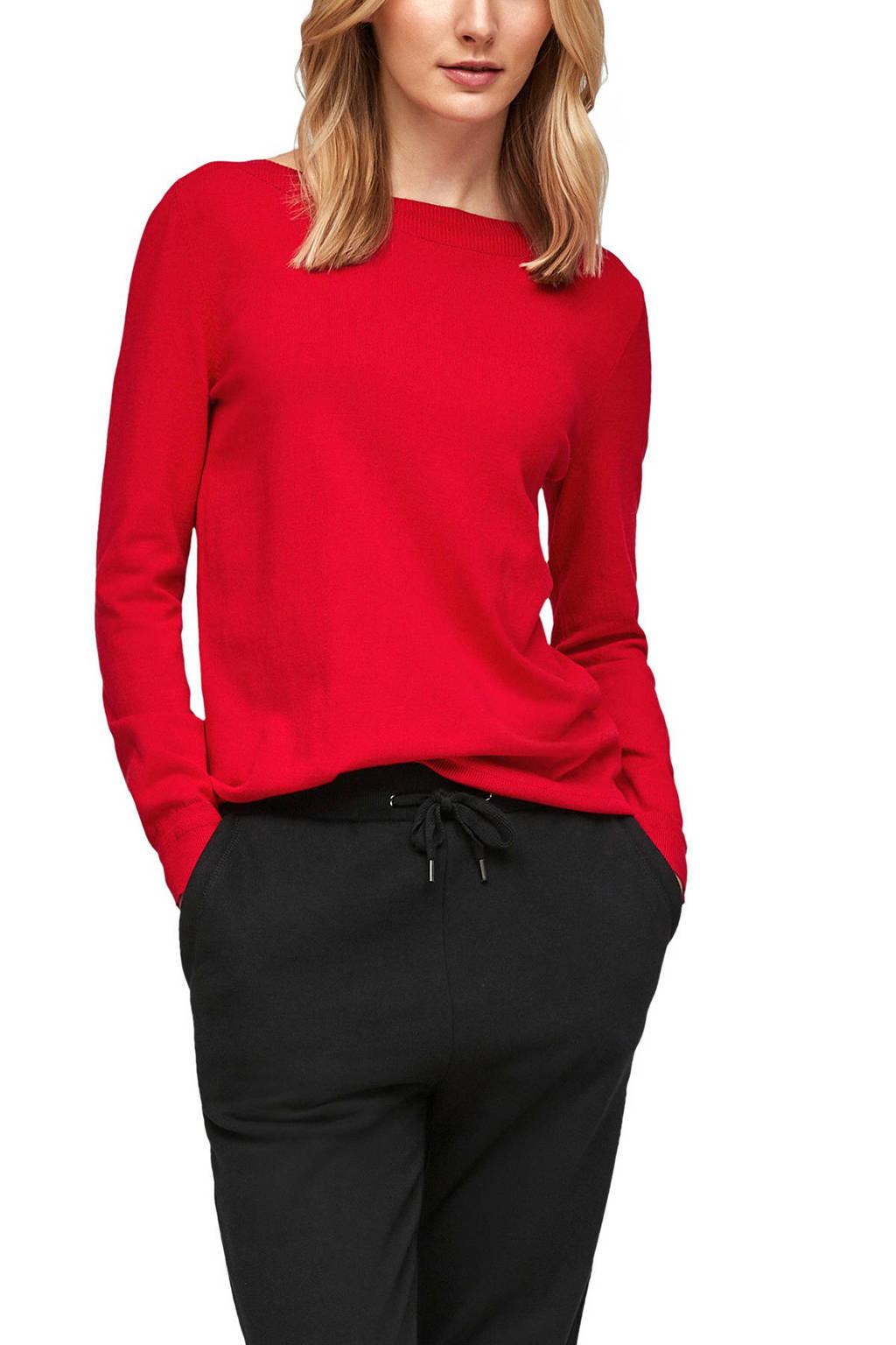 s.Oliver fijngebreide trui rood, Rood