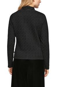 Q/S designed by vest met strass steentjes zwart/zilver, Zwart/zilver
