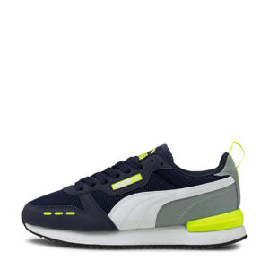 R78 Runner  sneakers donkerblauw/geel