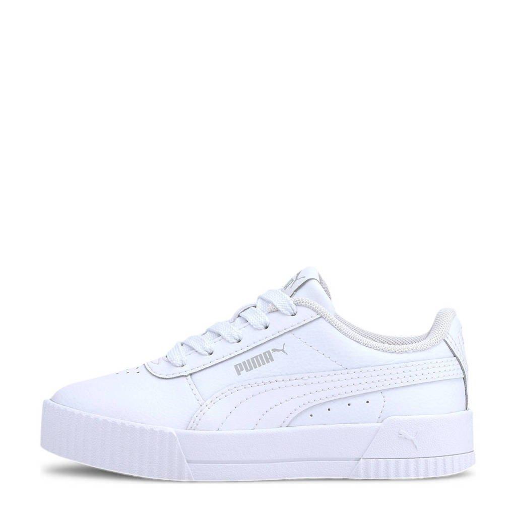 Puma Carina L PS sneakers wit/lichtgrijs, Wit/lichtgrijs
