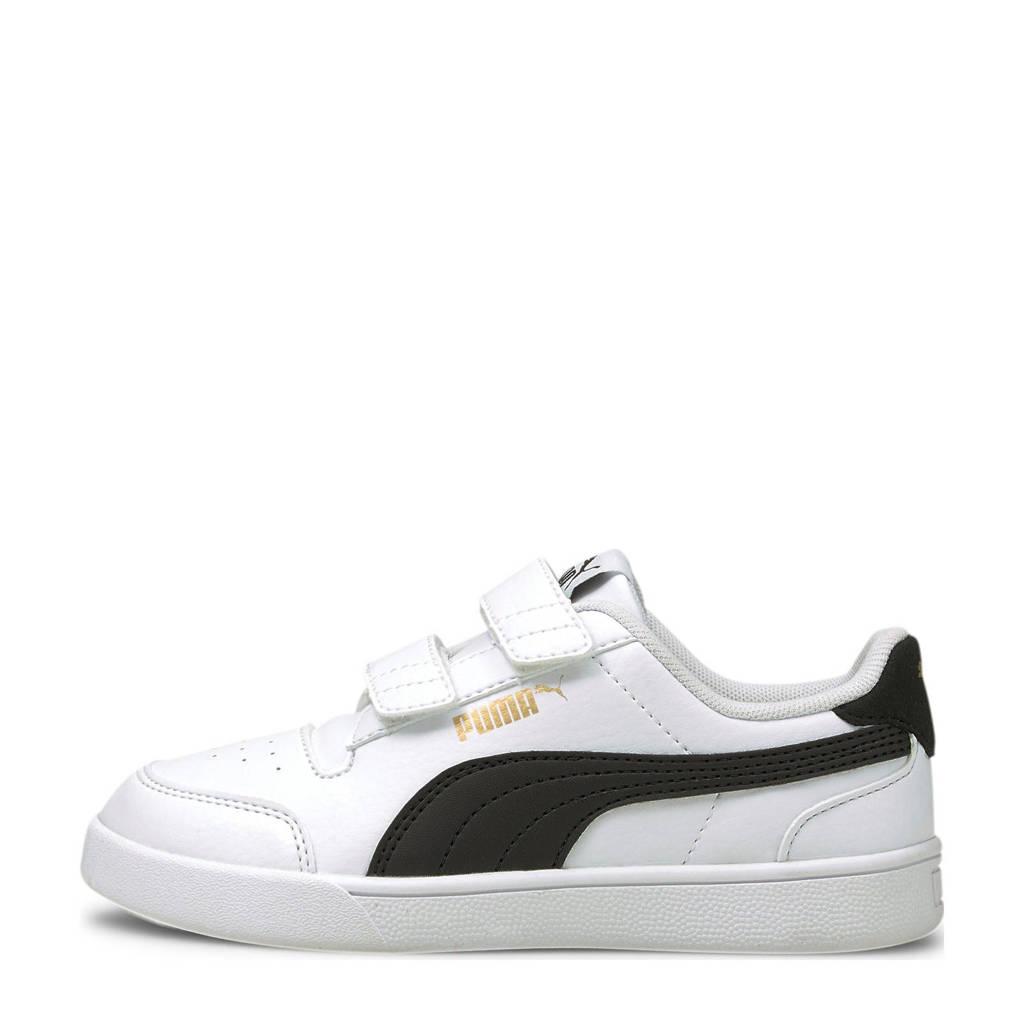 Puma Shuffle V PS sneakers wit/zwart, Wit/zwart