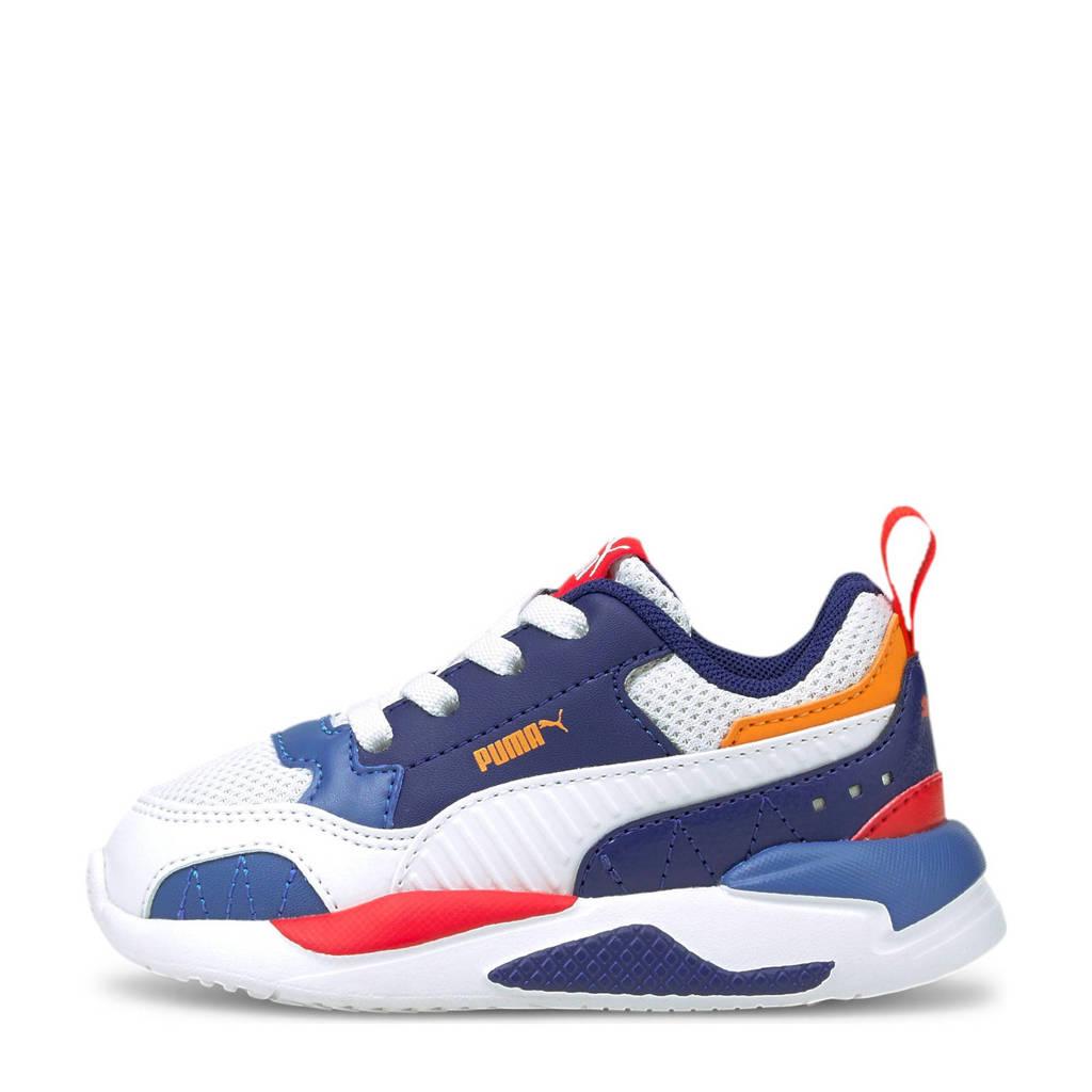 Puma X-Ray 2 Square Jr sneakers wit/blauw/oranje, Wit/blauw/oranje