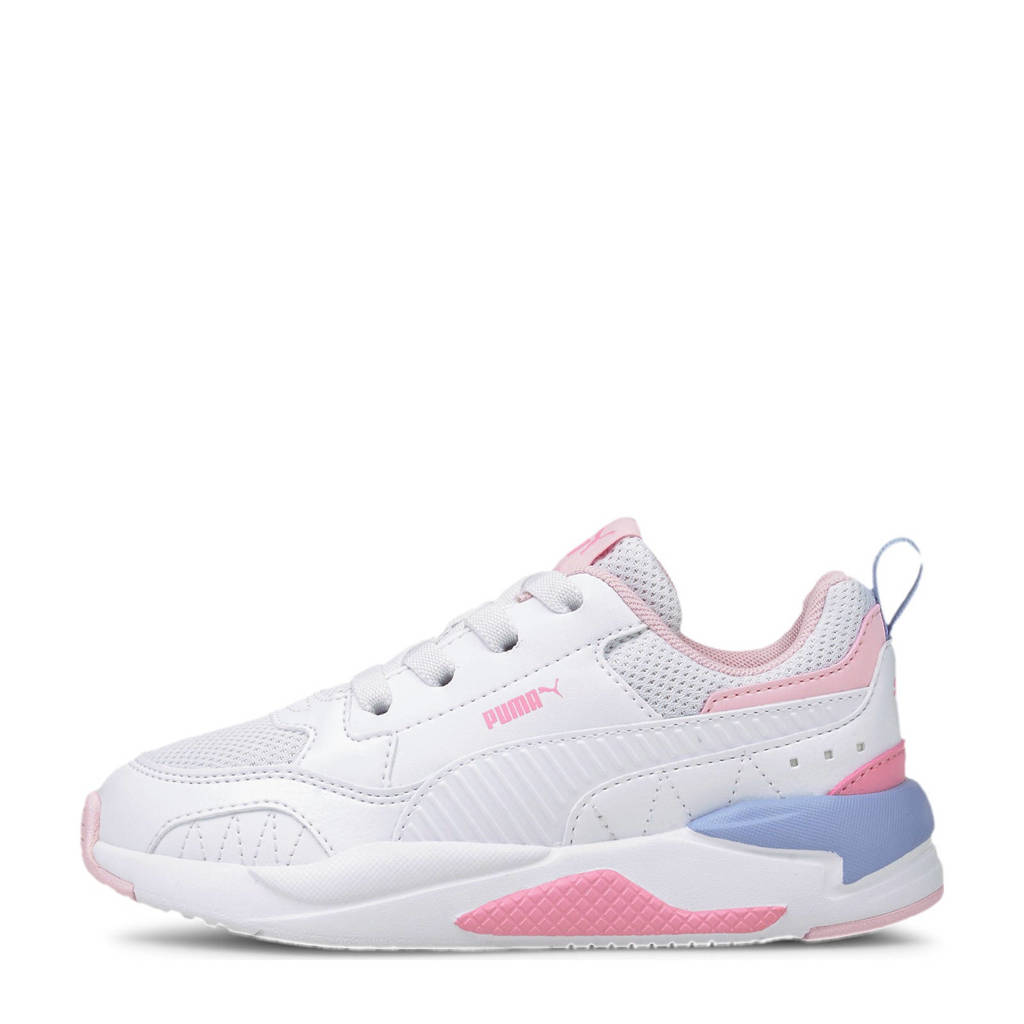 Puma X-Ray 2 Square AC PS sneakers wit/lichtroze/lichtblauw, Wit/lichtroze/lichtblauw