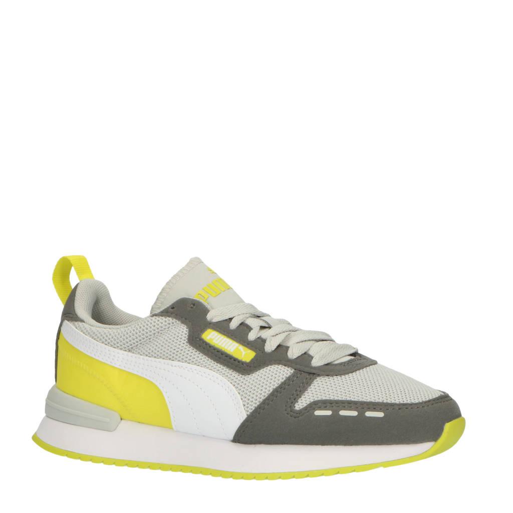 Puma R78 Runner  sneakers grijs/geel, Lichtgrijs/geel