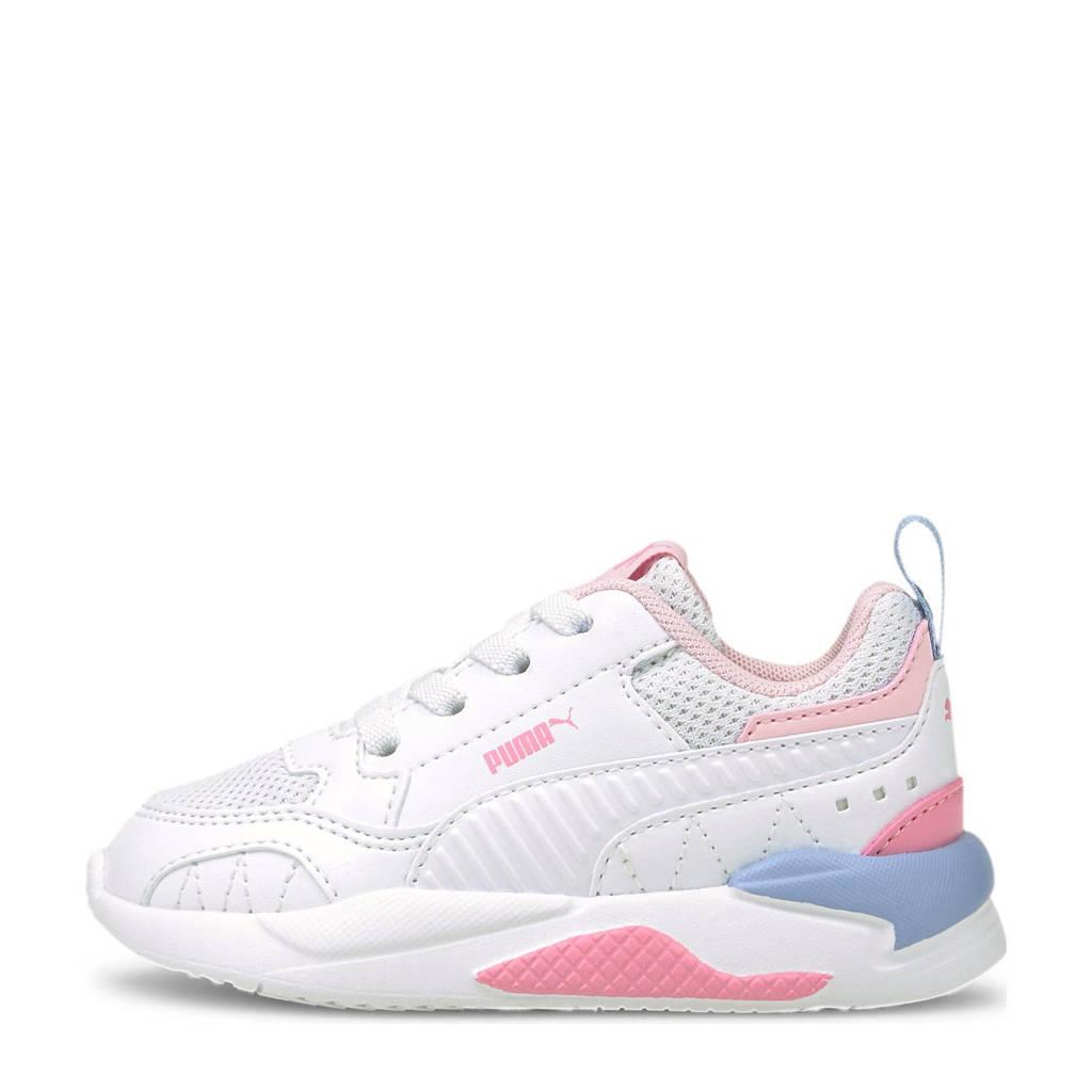 Puma X-Ray 2 Square Jr sneakers wit/roze/blauw, Wit/roze/blauw