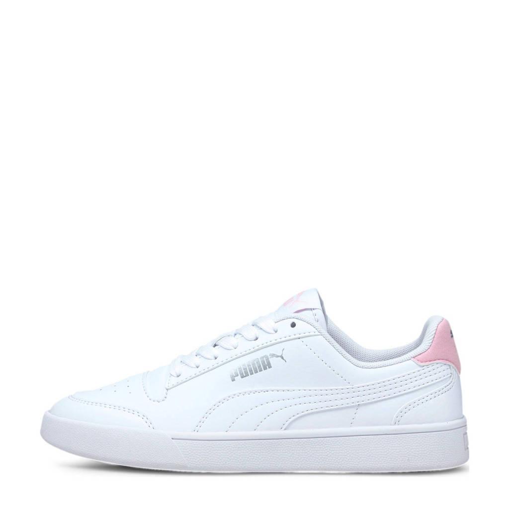 Puma Shuffle Jr sneakers wit/roze, Wit/roze