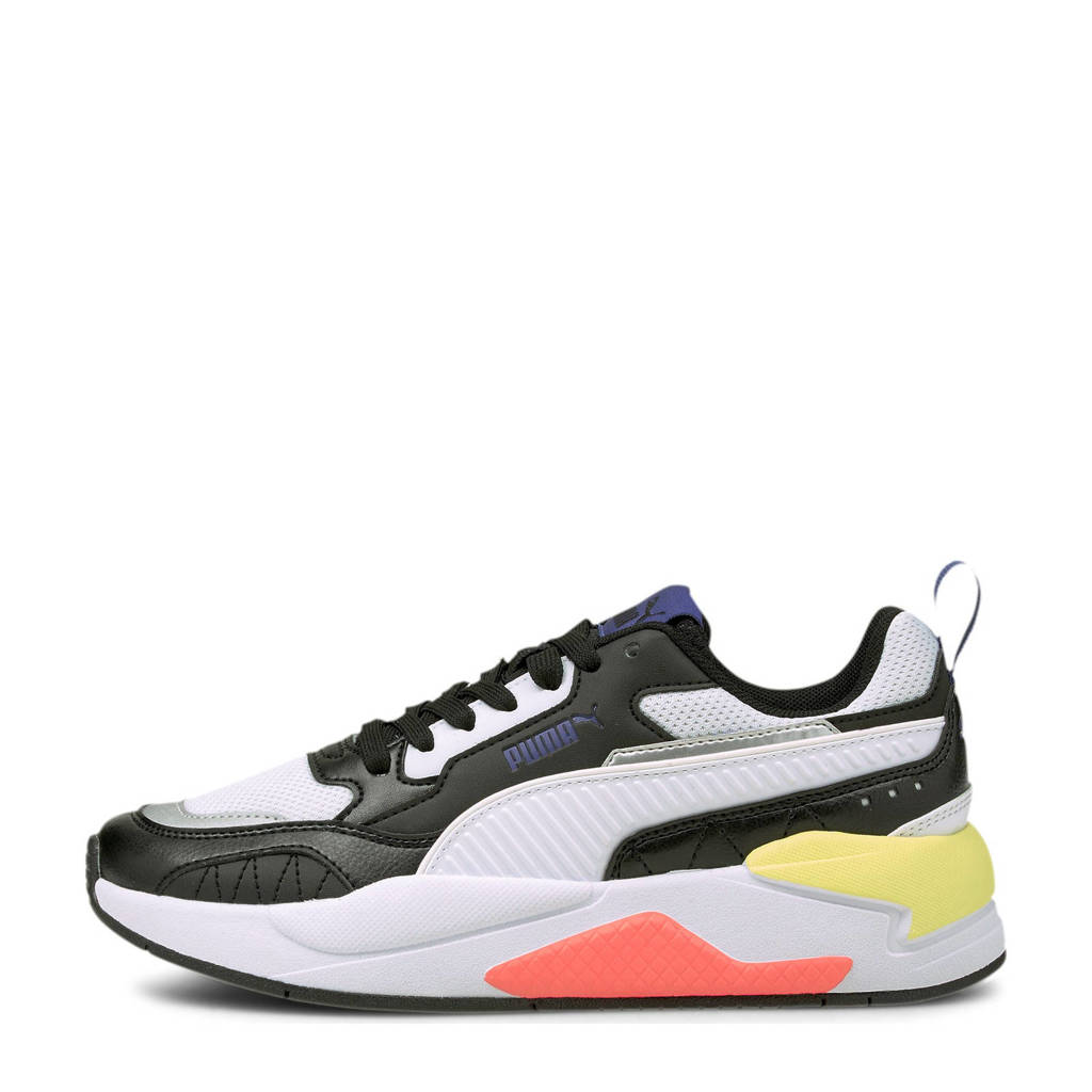 Puma X-Ray 2 Square Jr sneakers zwart/wit/geel/oranje, Zwart/wit/geel/oranje
