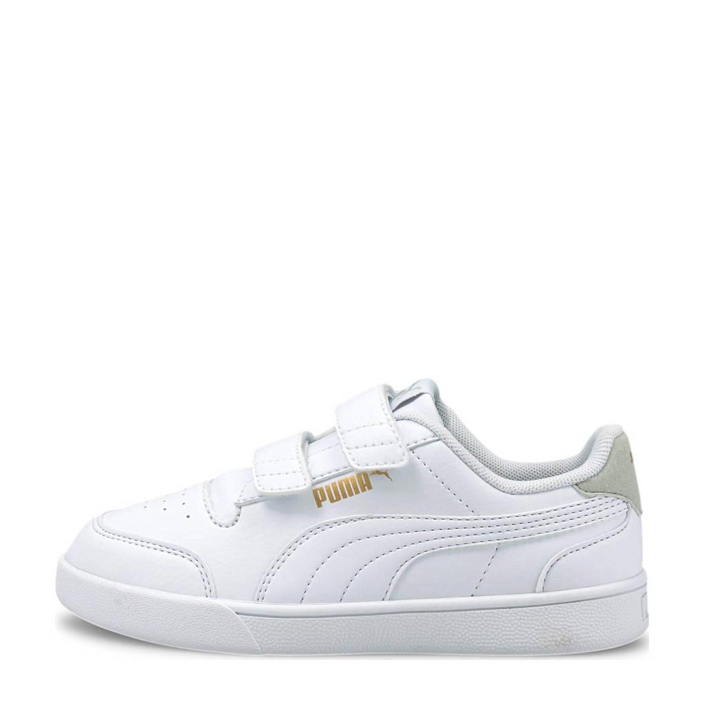 Puma Shuffle V PS sneakers wit/lichtgrijs, Wit/lichtgrijs